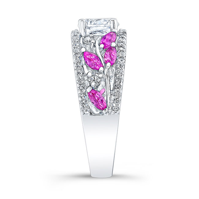 Pink Sapphire Engagement Ring 7984LPS Image 3