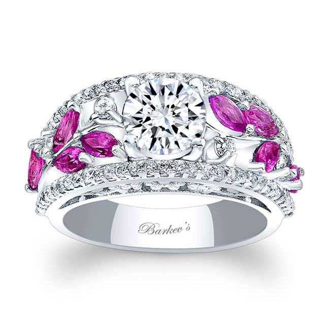 Pink Sapphire Engagement Ring 7984LPS Image 1
