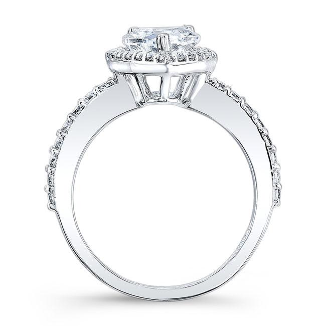 Pear Shape Moissanite Engagement Ring MOI-7994L Image 2