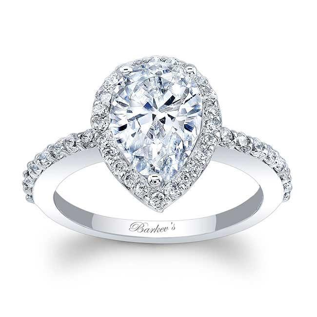 Pear Shape Moissanite Engagement Ring MOI-7994L Image 1