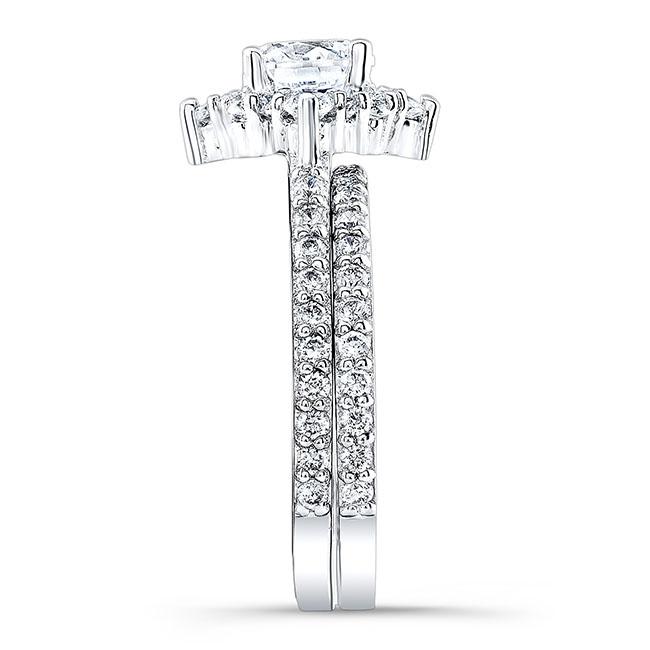 Halo Diamond Bridal Set 7995S Image 2