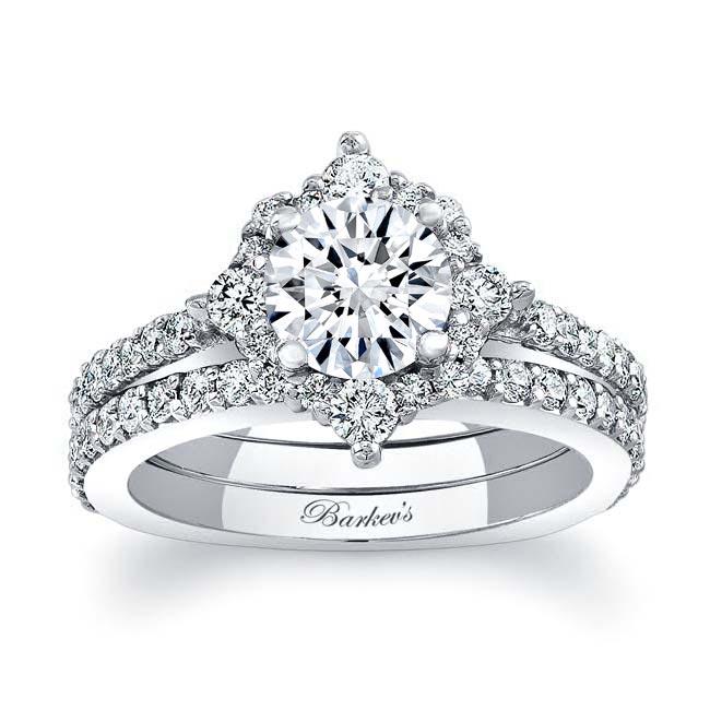 Halo Diamond Bridal Set 7995S Image 1