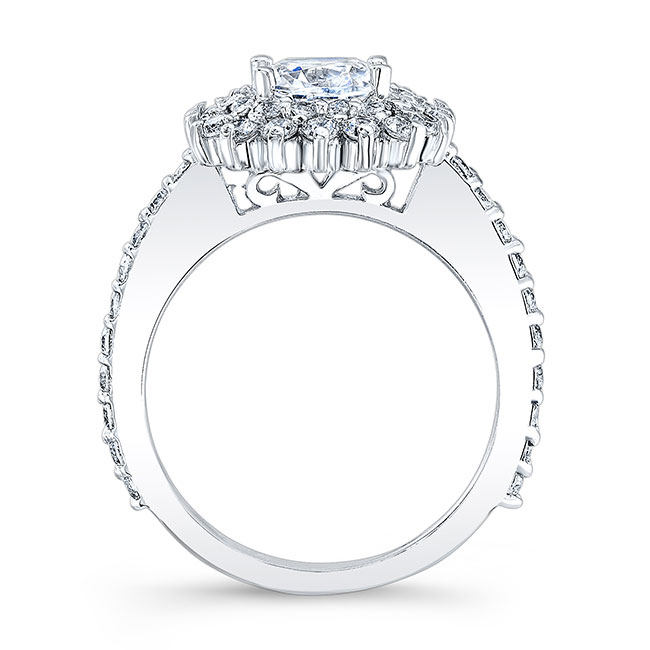Cushion Cut Engagement Ring 8001L Image 2