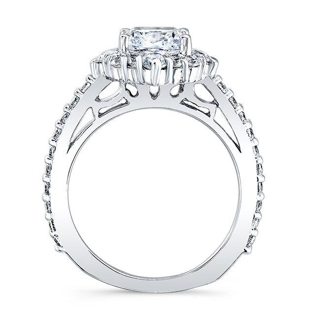 Cushion Cut Halo Diamond Ring Image 2