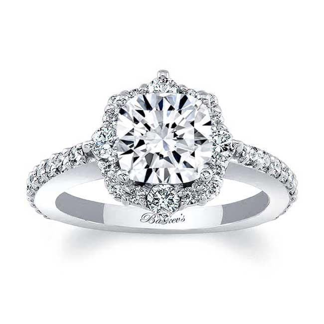 Cushion Cut Halo Diamond Ring Image 1