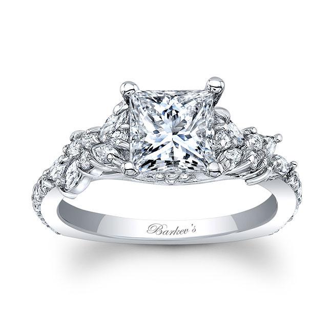 White Gold Princess Cut Engagement Ring Image 1