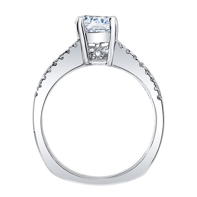 Round Channel Set Engagement Ring Image 2