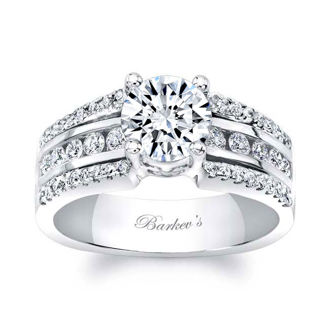 Round Channel Set Engagement Ring Image 1