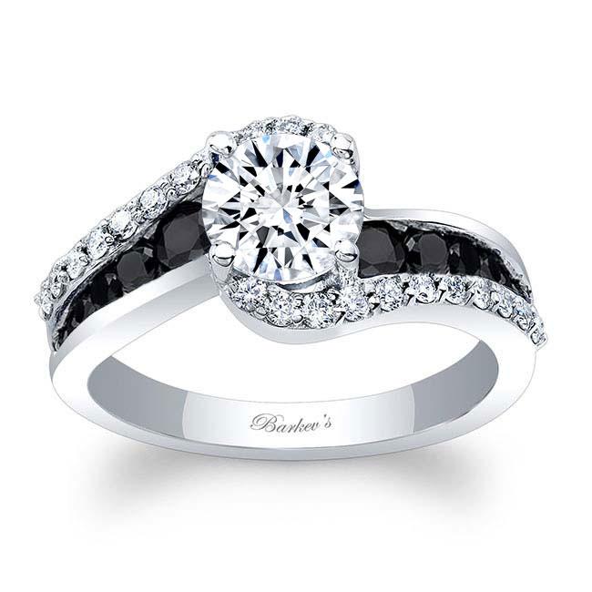 Black And White Diamond Ring Image 1