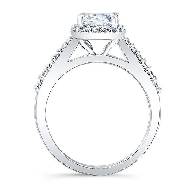 Cushion Cut Halo Engagement Ring 8019L Image 2