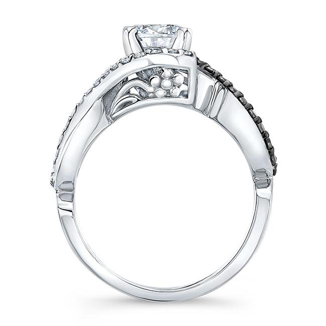 Black Diamond Infinity Twist Engagement Ring Image 2