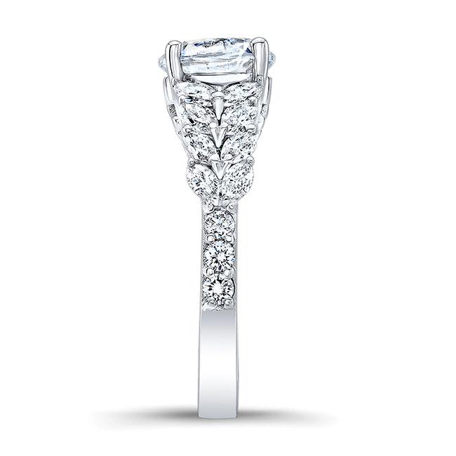 Unique White Gold Moissanite Engagement Ring MOI-8022L Image 3