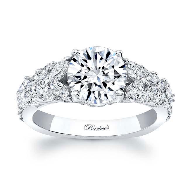 Unique White Gold Moissanite Engagement Ring MOI-8022L Image 1