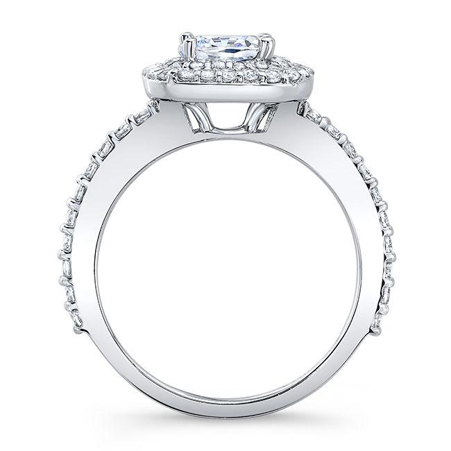 Cushion Cut Double Halo Engagement Ring Image 2