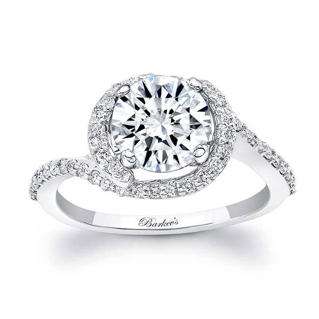 Half Halo Engagement Ring