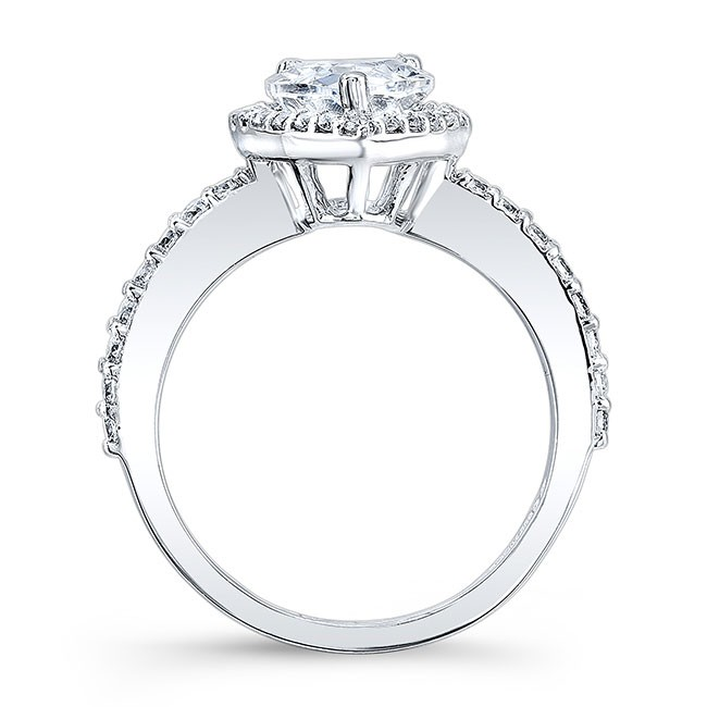 White Gold Pear Shaped Ring 8061L Image 2