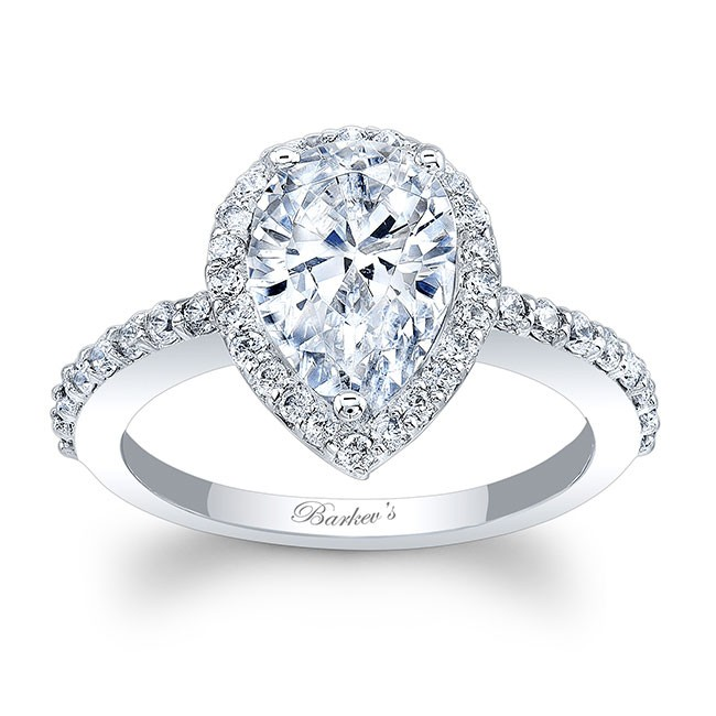 White Gold Pear Shaped Ring 8061L Image 1