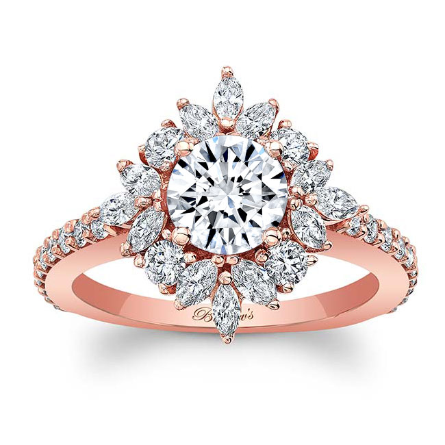 Marquise Halo Engagement Ring Image 1