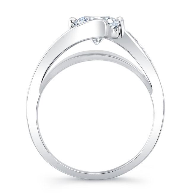 Split Shank Cathedral Engagement Ring 8069L Image 2
