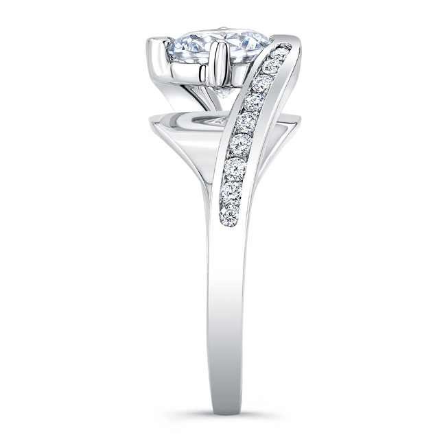 Split Shank Cathedral Engagement Ring 8069L Image 3