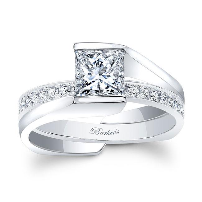 Princess Cut Bridal Set 8070S Image 1