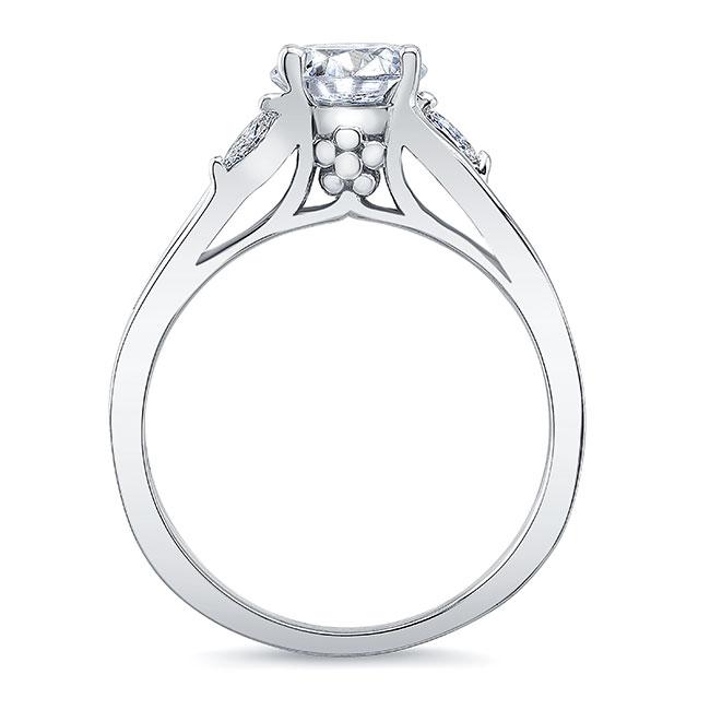 V Shaped Diamond Ring Image 2