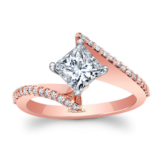 Princess Cut Bypass Ring Image 1