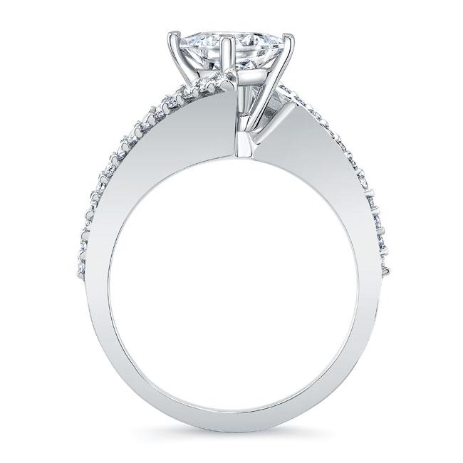 Princess Cut Moissanite Bypass Ring Image 2