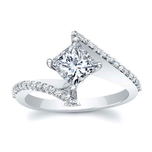Princess Cut Moissanite Bypass Ring Image 1