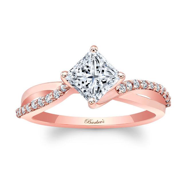 Princess Cut Twist Engagement Ring Image 1