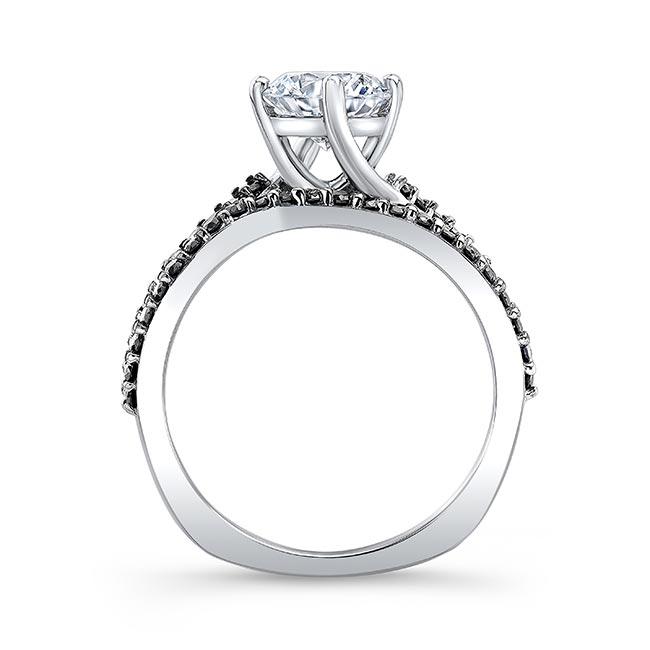 Princess Cut Black Diamond Accent Twist Bridal Set Image 2