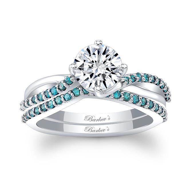 Blue Diamond Twist Bridal Set