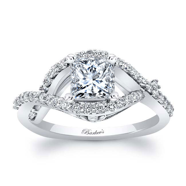 Princess Cut Engagement Ring 8081L Image 1