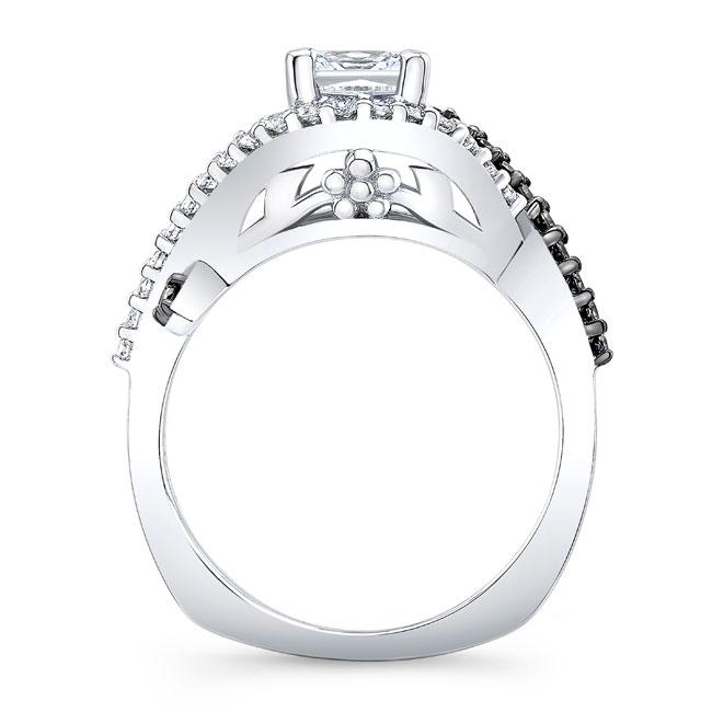 Black Diamond Princess Cut Engagement Ring 8081LBK Image 2