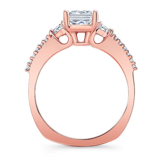 3 Stone Princess Cut Engagement Ring Image 2