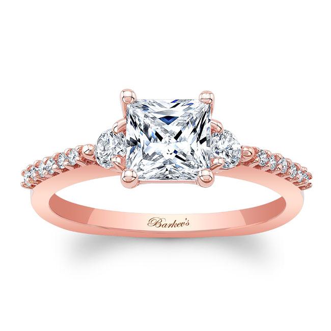 3 Stone Princess Cut Engagement Ring Image 1