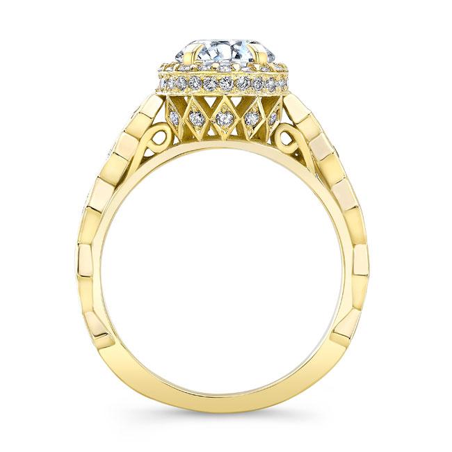 Moissanite Engagement Ring MOI-8142L Image 2