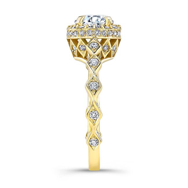 Moissanite Engagement Ring MOI-8142L Image 3