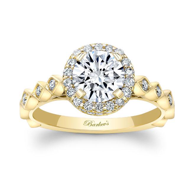 Moissanite Engagement Ring MOI-8142L Image 1