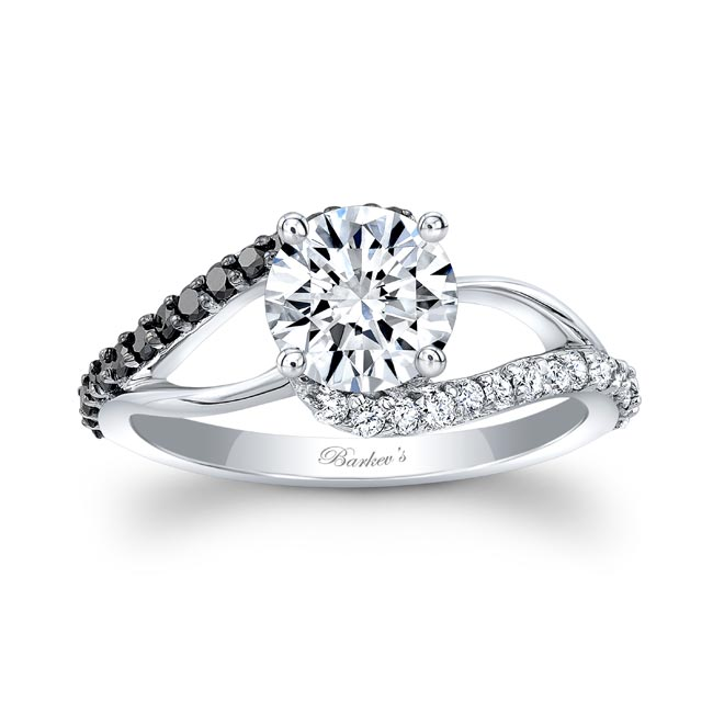 Split Shank Black Diamond Ring Image 1