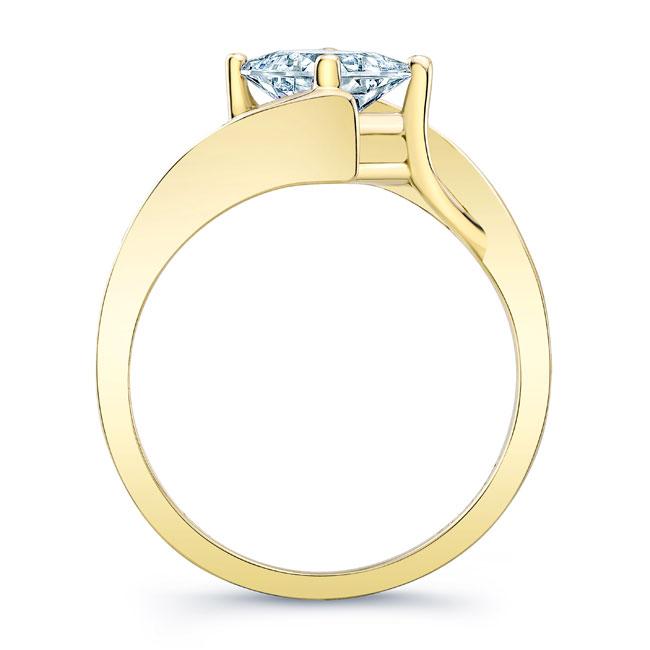 Unique Princess Cut Moissanite Ring Image 2