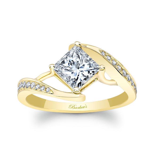 Unique Princess Cut Moissanite Ring Image 1