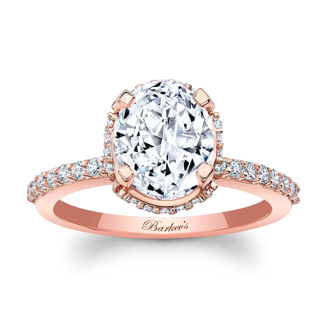 Hidden Halo Oval Engagement Ring Image 1