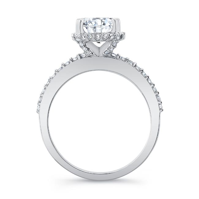 Hidden Halo Oval Engagement Ring Image 2