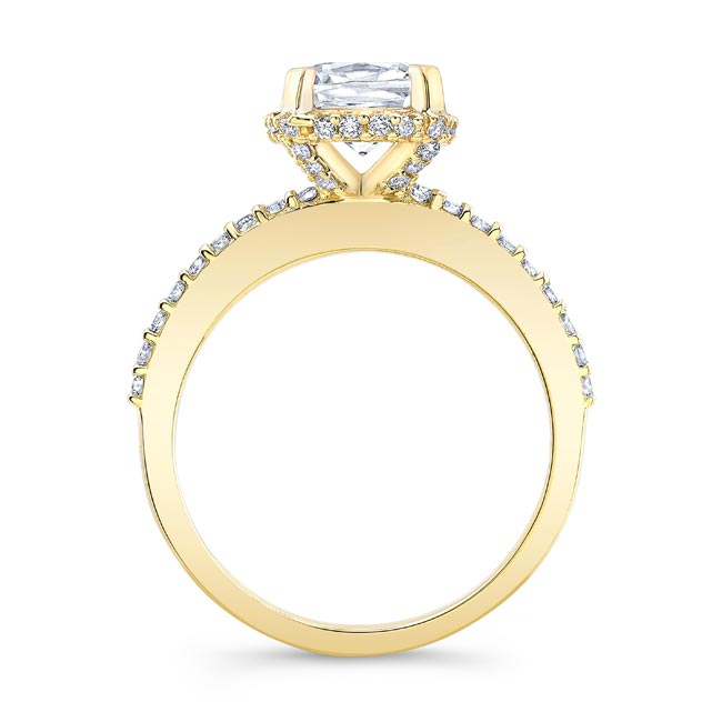 Moissanite Engagement Ring MOI-8159L Image 2