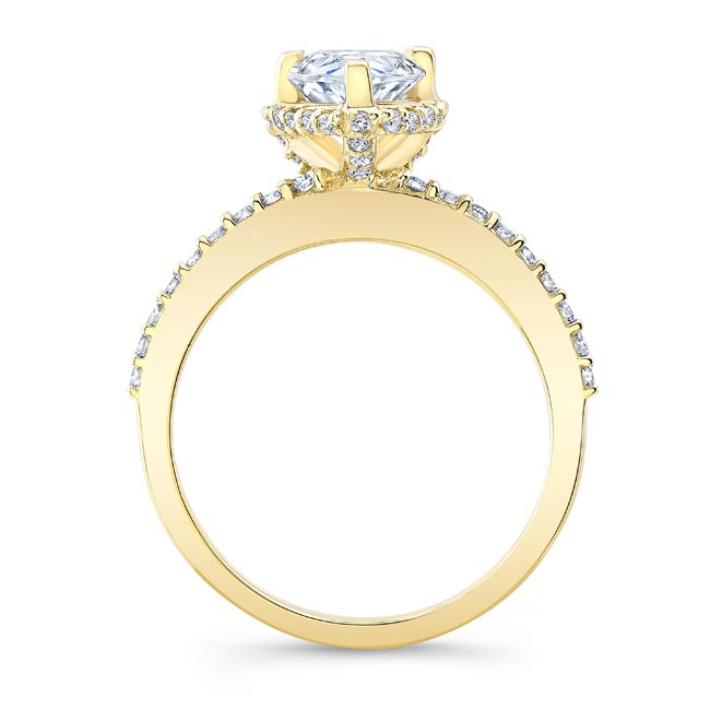 Pear Shape Moissanite Ring MOI-8160L Image 2