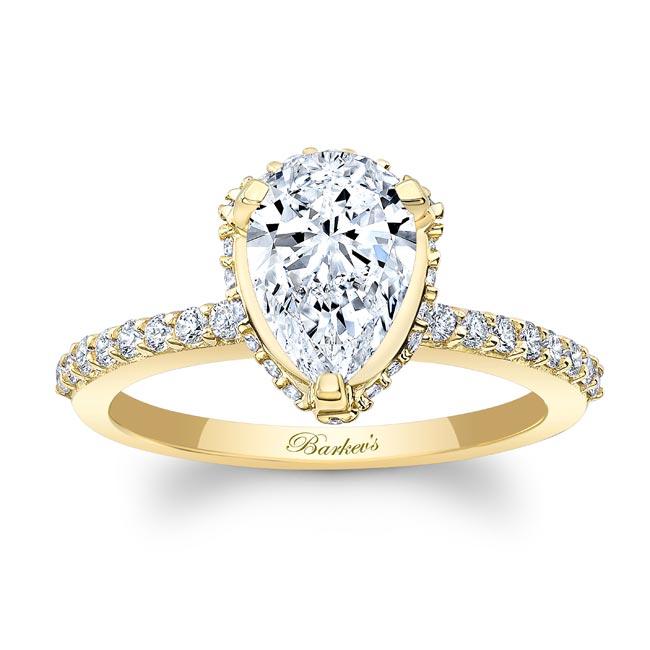 Pear Shape Moissanite Ring MOI-8160L Image 1