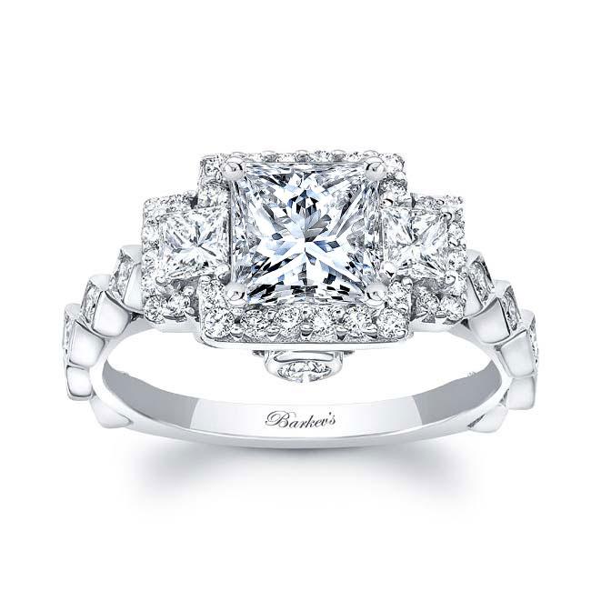 Vintage Three Stone Engagement Ring 8161L Image 1
