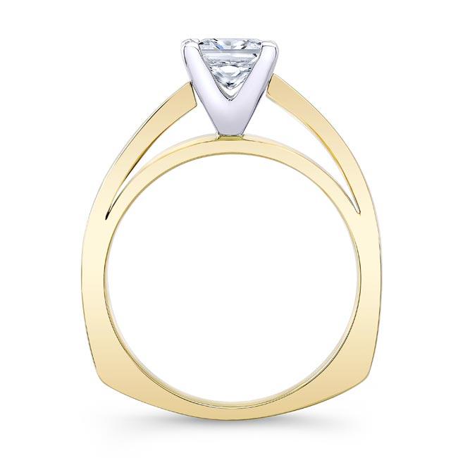 Princess Cut Moissanite Solitaire Engagement Ring MOI-8165L Image 2