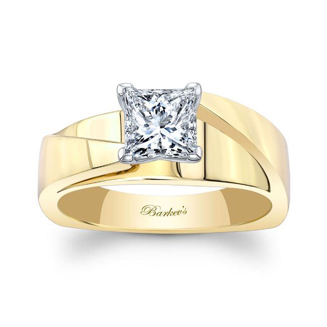 Princess Cut Moissanite Solitaire Engagement Ring MOI-8165L Image 1